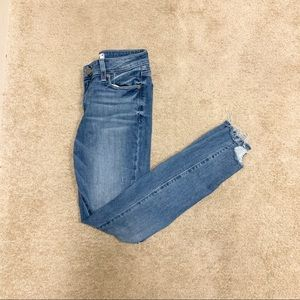 Paige Verdugo Ankle Skinnies with chewed hem